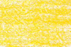 Żółta kredkowych rysunków tła tekstura Zdjęcia Royalty Free