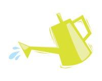 Żółta kropidło woda Zdjęcia Stock