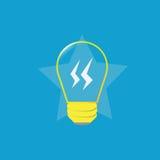 Żółta lampowa żarówka zdjęcie stock