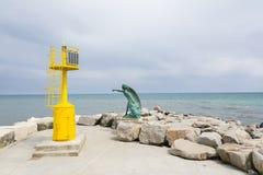Żółta latarnia morska Obrazy Royalty Free
