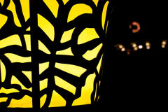 Żółta latarnia uliczna Zdjęcia Royalty Free