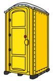 Żółta mobilna toaleta ilustracja wektor