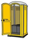 Żółta mobilna toaleta royalty ilustracja