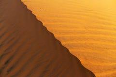 Żółta piaskowata falista diuny tekstura Obrazy Royalty Free