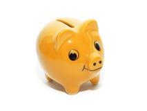 Żółta pieniądze świnia Obrazy Stock