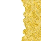 Żółta ręka rysujący wektorowy tło Fotografia Royalty Free