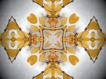 Żółta roślina w śnieżny mandala Obraz Stock