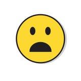 Żółta Smutna twarz Szokujący Negatywni ludzie emoci ikony Fotografia Royalty Free