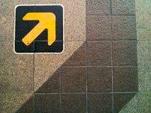 Żółta strzała Obrazy Stock