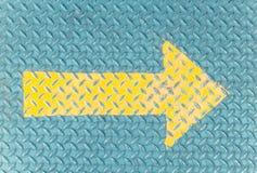 Żółta Strzałkowata farba Fotografia Stock