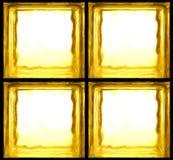 Żółta szklanych cegieł ściana Obraz Royalty Free