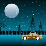Żółta taksówka Zdjęcia Royalty Free