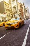 Żółta taksówka Nowy Jork obrazy stock