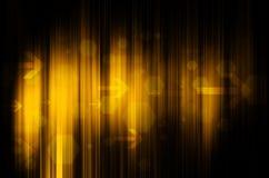 Żółta technologia w czarnym tle ilustracja wektor