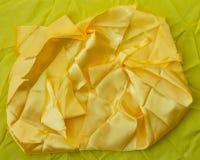 Żółta tkaniny narzuta Zdjęcia Stock