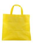Żółta tkaniny torba odizolowywająca na białym tle Fotografia Royalty Free