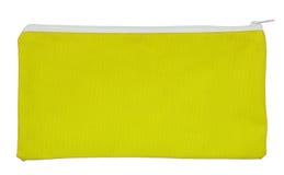 Żółta tkaniny torba odizolowywająca na bielu Fotografia Royalty Free