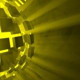 Żółta wybuch piłka Fotografia Royalty Free