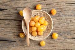 Żółta zalewy wiśni owoc obraz royalty free