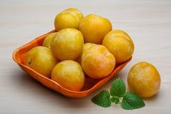 Żółte śliwki Fotografia Stock
