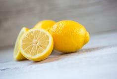 Żółte cytryny Zdjęcia Royalty Free