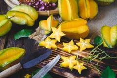 Żółte Gwiazdowe owoc Zdjęcie Royalty Free