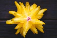 Żółte Gwiazdowe owoc Fotografia Stock