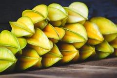 Żółte Gwiazdowe owoc Zdjęcie Stock