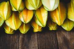 Żółte Gwiazdowe owoc Zdjęcia Stock