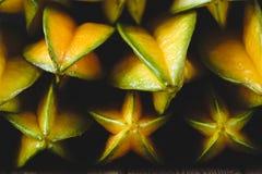 Żółte Gwiazdowe owoc Zdjęcia Royalty Free