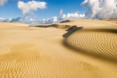 Żółte miękkie piasek diuny Zdjęcia Stock