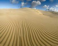 Żółte miękkie piasek diuny Obrazy Royalty Free