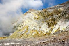 Żółte siarek skały Obraz Royalty Free