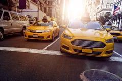 Żółte taksówki NYC zdjęcie royalty free