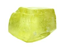 Żółtego kalcytu geological kryształy Obraz Stock