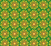 Żółtej flor tło tekstury bezszwowi wzory fotografia stock