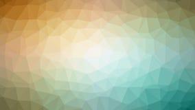Żółtej zieleni Triangulated tło Obraz Stock
