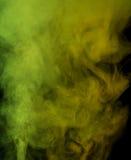 Żółtej zieleni wodny opary Zdjęcia Stock