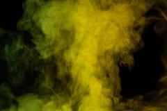 Żółtej zieleni wodny opary Obraz Stock