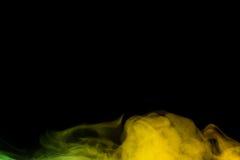 Żółtej zieleni wodny opary Fotografia Stock