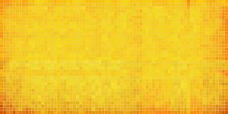 Żółty abstrakcjonistyczny mozaiki tło Fotografia Royalty Free