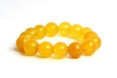 Żółty agat, jaspisowej bransoletki szczęsliwy kamień Zdjęcie Royalty Free
