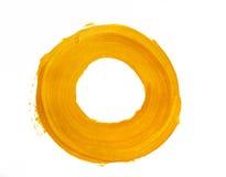 Żółty akrylowy okrąg Fotografia Stock