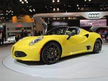 Żółty Alfa Romeo samochód 2015 Nowy Jork Międzynarodowy Auto przedstawienie Zdjęcie Royalty Free