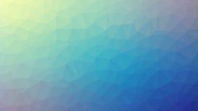 Żółty Błękitny Triangulated tło Zdjęcia Royalty Free