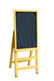 Żółty blackboard na białym blackboard Zdjęcie Royalty Free