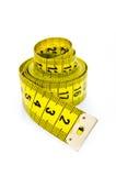 Żółty centymetr zdjęcia stock