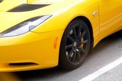 ŻÓŁTY COLOUR sportów samochód Zdjęcie Stock