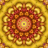 Żółty czerwony kalejdoskop Ilustracja Wektor