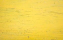 Żółty Drewniany Ścienny tło Fotografia Royalty Free